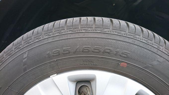 タイヤサイズの表記