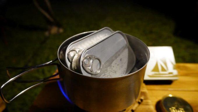 缶詰は湯煎するのが基本