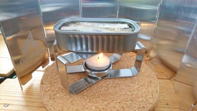 CROSS WARMER(クロスウォーマー)で缶詰を温める