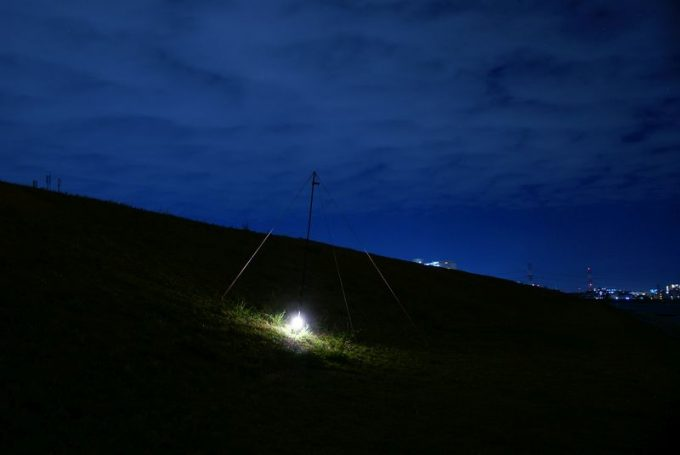 ジェントスEX-1000Cの明るさ(下置き)