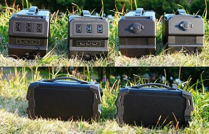 LACITA エナーボックス(ENERBOX-01)とエナーボックス防塵防沫(ENERBOX-SP)の見た目を比較