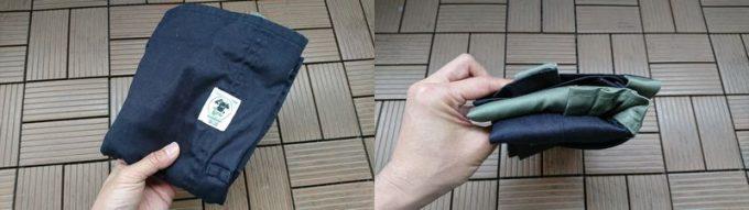 GRN HIASOBI CAMPER APRON (火遊びキャンパーエプロン)は畳むとコンパクト