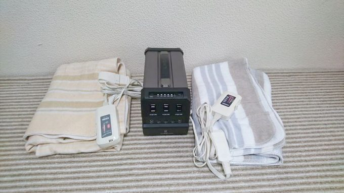 LACITA エナーボックスで電気毛布の稼働時間を検証