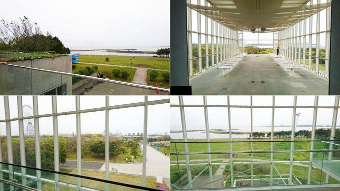 葛西臨海公園のクリスタルビューからの眺め