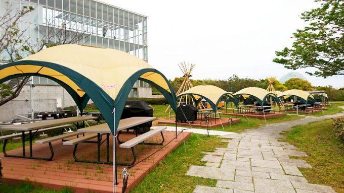 葛西臨海公園 SORAMIDO BBQ (ソラミド バーベキュー)のサイト群 別アングル