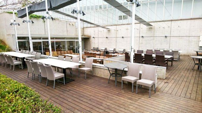 葛西臨海公園 クリスタルカフェのテラス