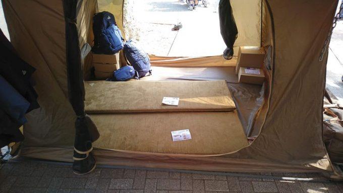 タラスブルバ「キャタピラー2ルームシェルター6P」の寝室