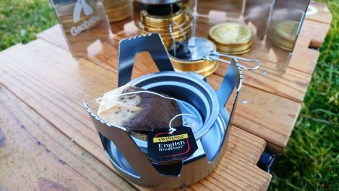 ガオバブの固形燃料トレーは茶殻受けになる