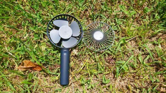 ルーメナーポータブル扇風機の前カバーは取り外し可能