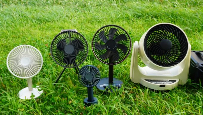キャンプ用の扇風機を比較