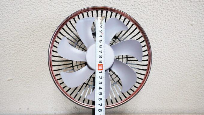 ルーメナー ファン プライムの羽根サイズ(直径)