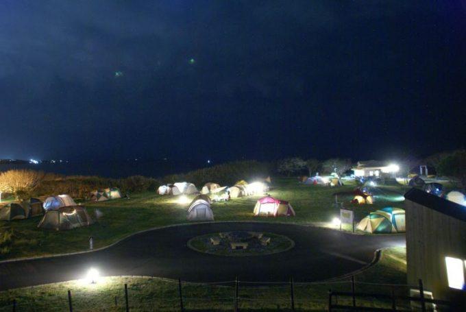 ソレイユの丘でキャンプした夜