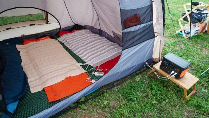 Jackeryポータブル電源700で電気毛布を使う
