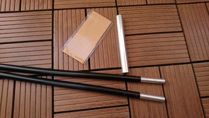 テントのポールを修理・補修する道具