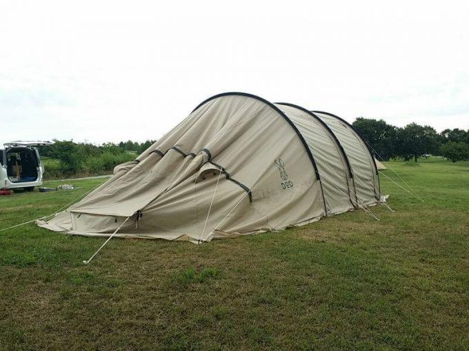 テントを縮小して張る