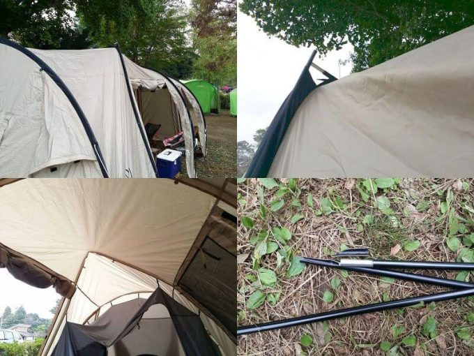 テントのポールが折れた写真