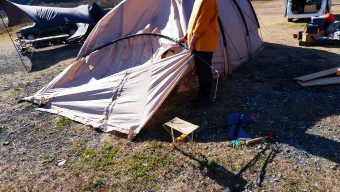 4回目のテントのポール折れ