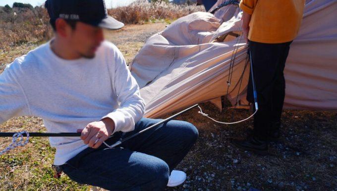 4回目のテントのポール折れを修理