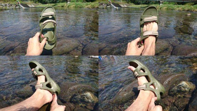 クロックス(crocs)のスウィフトウォーターリバーサンダルは履くのが簡単