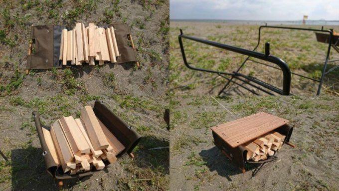 ハングアウトのログキャリーをファイヤーサイドテーブルにセットして使う