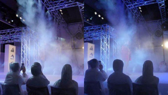 ワークマンの過酷ファッションショーの霧と暴風