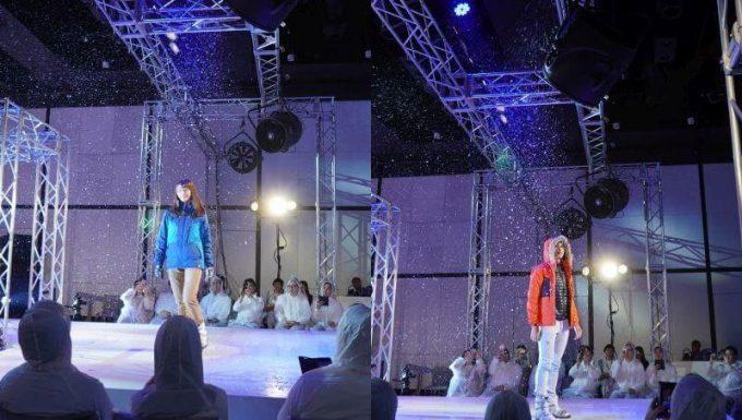 ワークマンの過酷ファッションショーで雪