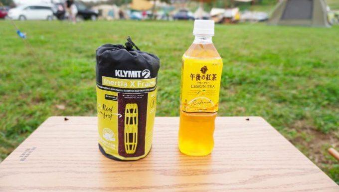 クライミット イナーシャ Xフレームの収納サイズは500mlのペットボトルほど