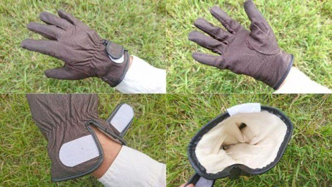 ワークマンの豚革手袋
