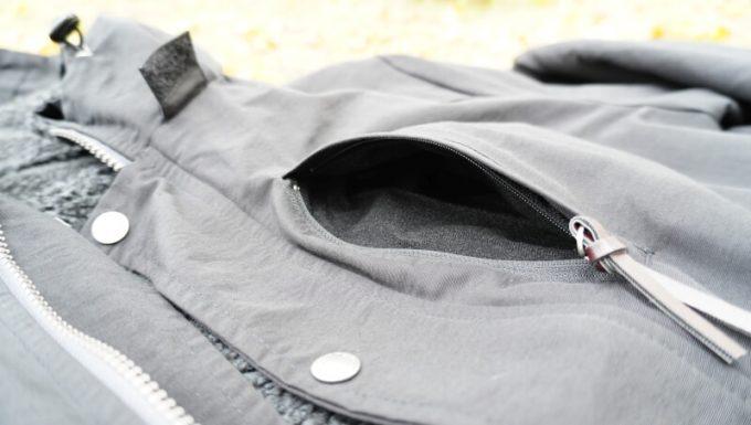 gym master(ジムマスター) リバーシブル マウンテン ジャケットの胸ポケット