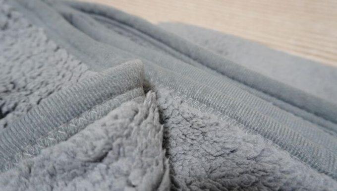 REINシープボア毛布の起毛の縫製