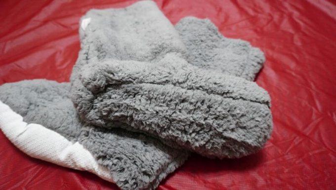 REINシープボア毛布の靴下の裏生地