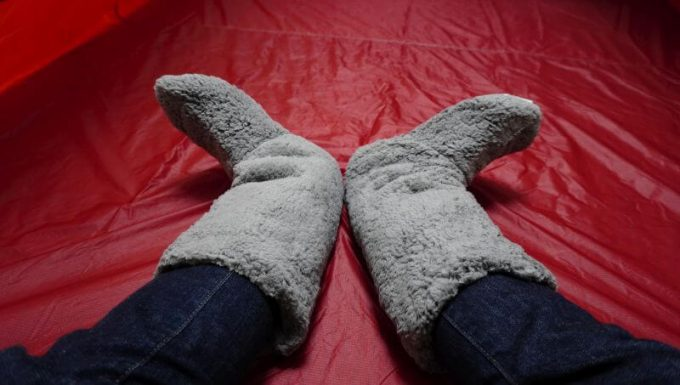REINシープボア毛布の靴下の履く