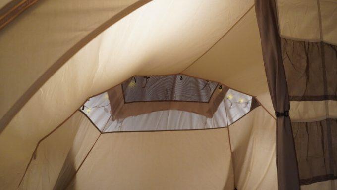 ノルディスク レイサ6レガシーのインナーテントの天井ベンチレーション