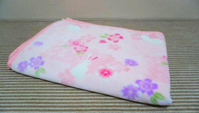 しまむらの毛布(ポリエステル100%)