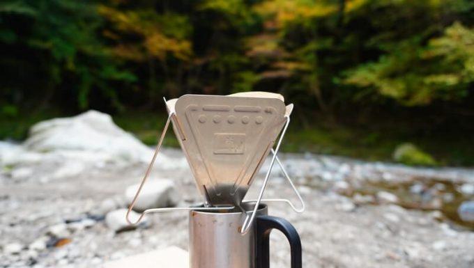 スノーピークのコーヒードリッパーをキャンプで使う