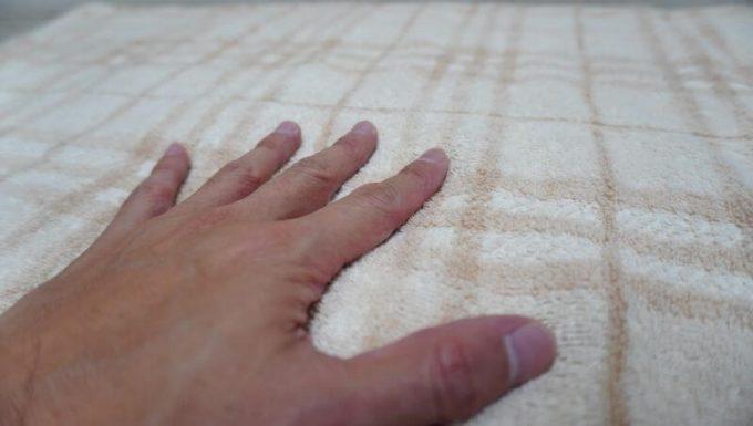 タオル生地の毛布 (綿100%)の触り心地