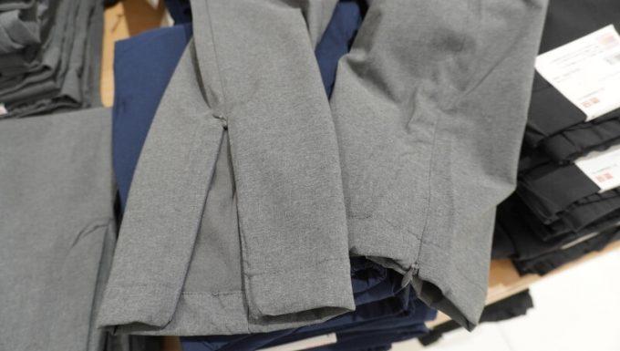 ユニクロ レディース ヒートテックウォームイージーパンツの裾口のジッパー