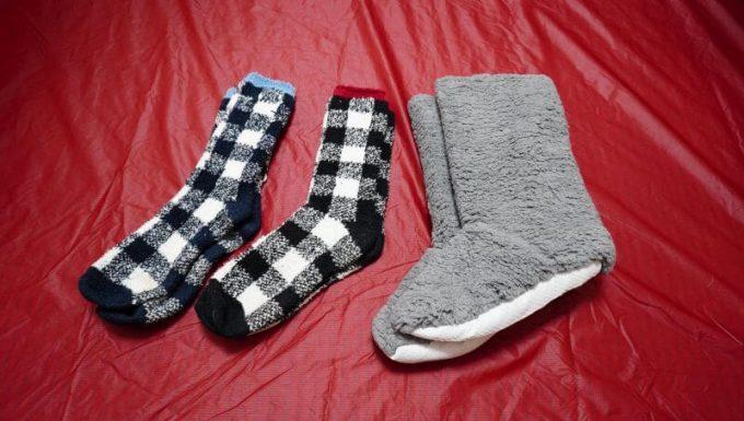 極厚手の靴下