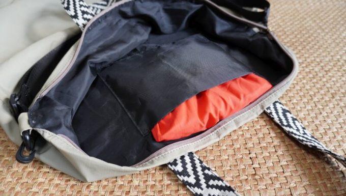 フェリシモ リブ イン コンフォート×魅惑のキャンプ たっぷり入って本当に使える!薄くて軽い親子バックセット 小バックを大バックの内ポケッに入れる