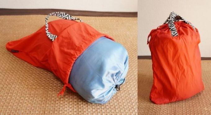 フェリシモ リブ イン コンフォート×魅惑のキャンプ たっぷり入って本当に使える!薄くて軽い親子バックセット 小バックのサイズ感