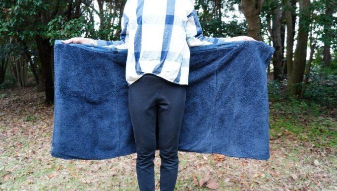 フェリシモ 巻いてぬくぬく腰をあたためる裏ボアオーバースカート