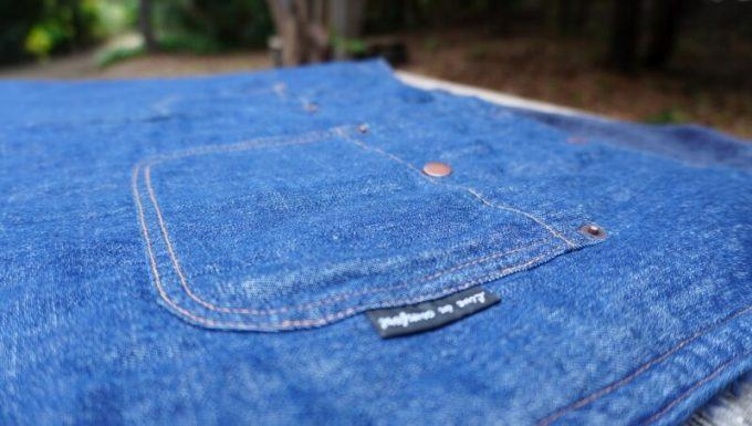 フェリシモ 巻いてぬくぬく腰をあたためる裏ボアオーバースカートの表生地は綿100%