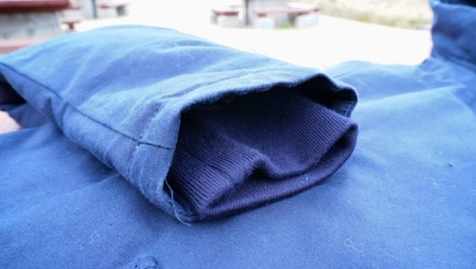 gym master(ジムマスター) ドロップポケットマウンテンパーカーの袖口のリブ