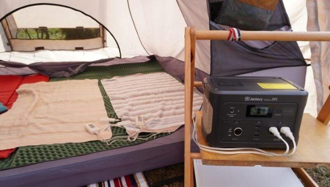 JACKERY×JVC BN-RB05-Cで電気毛布を使う
