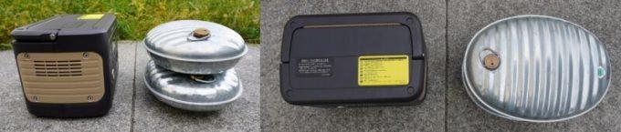 JACKERY×JVC BN-RB05-Cと湯たんぽのサイズ比較