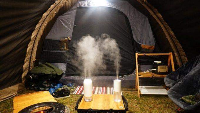 LUMENA加湿器(H2とH3)をテント内で使う