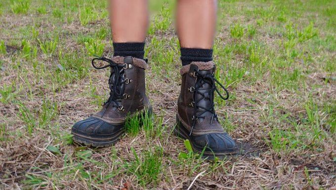 ナカタ×ラソックス メリノウールソックスはブーツを履ける丈の長さ