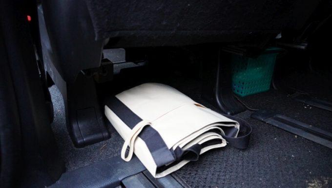レジカゴバックを車内に常備