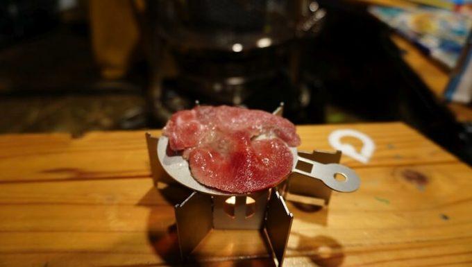 キャンロ(can+ro)のオプション 焼き板(yaki+ita)で牛タンを焼く その2