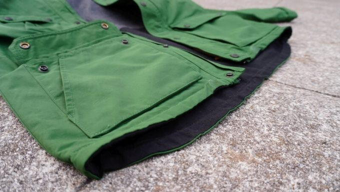 grn(ジーアールエヌ)マウンテンパーカーの裾